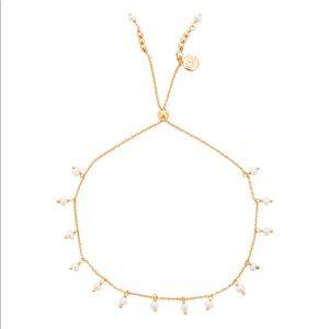 Gorjana Pearl Adjustable Bracelet in Gold & Pearl